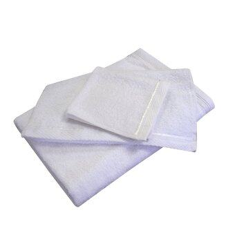 Harga Essina 100% Cotton Towel Gift Pack 3pcs/set Toby White - (Hand+Face+Bath)