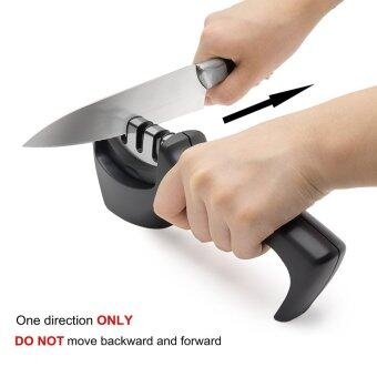 Harga Knife Sharpener Professional 3 Stage Sharpening System for Steel Knives in All Sizes,Black