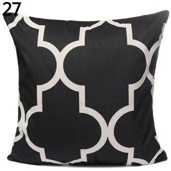 Harga Broadfashion Home Decor Vintage Geometric Flower Cotton Linen Throw Pillow Case Cushion Cover (27#)