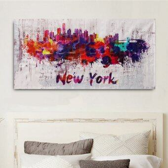 Harga New NEW YORK Abstract Decorative Canvas Painting No Frame Wall Art Display