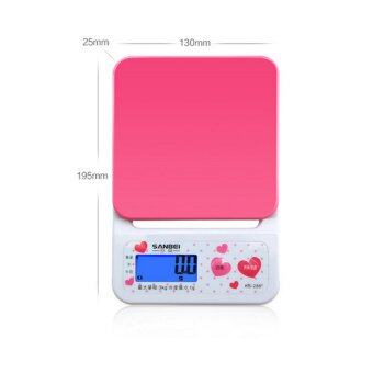 Harga BAAFFECT Kitchen Telectronic Scales Precision Digital Scales Maximum Weighing 5kgWhite