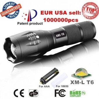 Harga FFY 3800LM CREE XM-L T6 X800 Zoom LED Flashlight Torch Waterproof Flashlights 5 Mode Led Zoomable Light Lamp Black