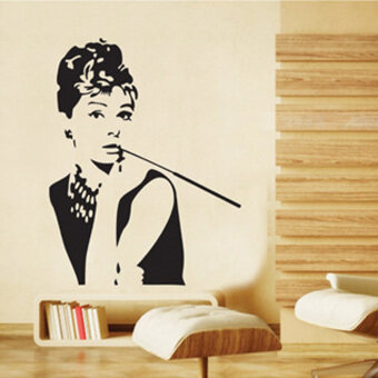 Harga 360WISH Audrey Hepburn Wall Sticker Removable Wall Decor(90*60CM) (EXPORT)