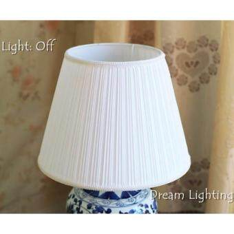 Harga 40cm XL-size Lampshade Dream Lighting Table Lampshade Stand Lampshade (White)