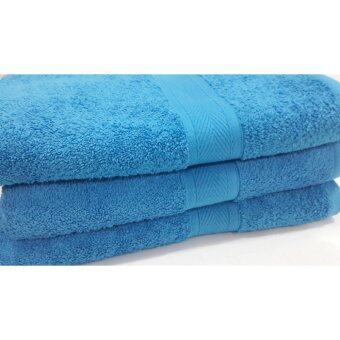 Harga Pack of 3 Luxury Bath Towel 100% Cotton Very Soft 70 x 140 cm