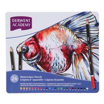 Harga Derwent Academy Watercolour Pencils 24's