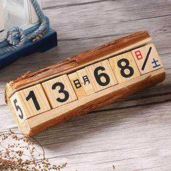 Harga zakka wood calendar, manual calendar, creative small gifts home decorations