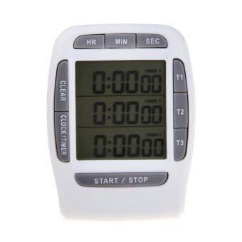 Harga Digital LCD Timer CountDown Laboratory 3 Channel Timers 99 Hours