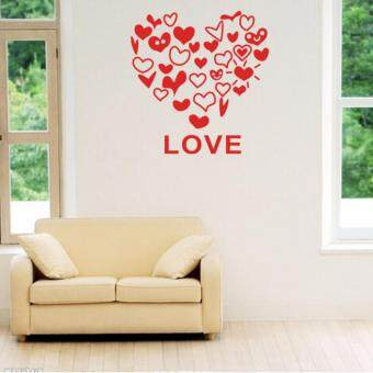Harga GETEK Love Heart Wall Sticker