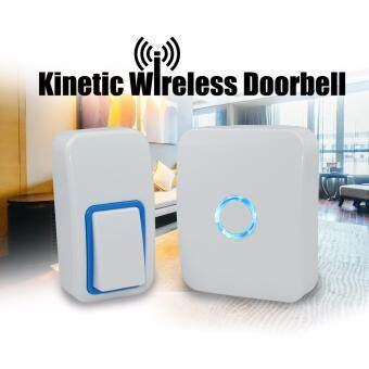 Harga NO BATTERY WIRELESS DOORBELL DOOR CHIME 25 RING TONES WATERPROOF BRAND KINETIC (WHITE)