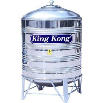Harga King Kong HR50 500L/110G Vertical Round Bottom With Stand Stainless Steel Water Tank