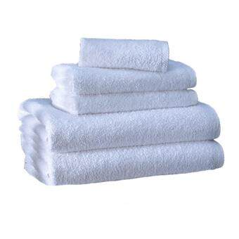 Harga Pack of 6 Hotel White Adult Towels 100% Cotton Anti-Bacterial (2 Bath-2 Hand-2 Face)