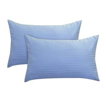 Harga Essina 100% Cotton Colour Palette 680TC Pillow Cases 2pcs_set - BLUE