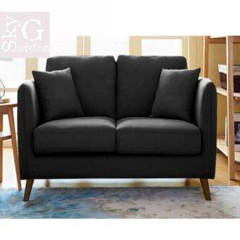 Harga APHRODITE: Nordic Style Elegant Small Living Room 2 - Seater Sofa Chair [Wooden Leg]