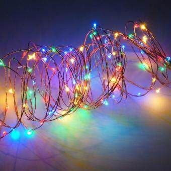 Harga 10M 100 LED Copper Wire String Lights Warm White LED Strings for Christmas Wedding Party Powered By 3 AA Battery