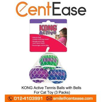 Harga KONG Active Tennis Balls with Bells For Cat Toy (3 Packs)