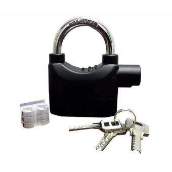 Harga Original Kinbar 110dba Security Siren Alarm Padlock For Home/Bike (Black)