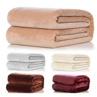 Harga Pure Sofa Levin carpet blanket Warm Coral Fleece Throw Soft Blanket Rug Plush 50*70cm