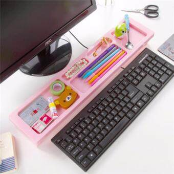 Harga Creative Plastic Multifunction Desktop Stationery Organizer Stand Keyboard Storage Rack Commodity Shelf For Home Office