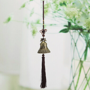 Harga Feng Shui Bell Blessing Good Luck Fortune Hanging Wind Chime Color Brass