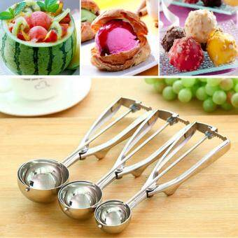 Harga Imixlot Stainless Steel Ice Cream Scoop Spoon Middle Size