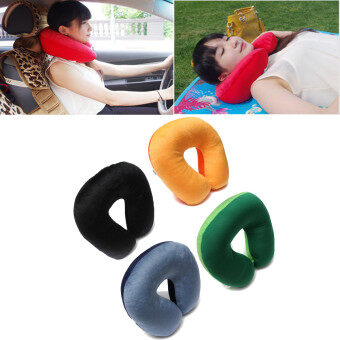 Harga Soft Comfort Microbead Travel Neck Pillow Cushion Sleep Support Car Home Sleep blue