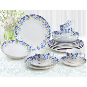 Harga Giacomo Romantique 20pcs translucent porcelain dinner set