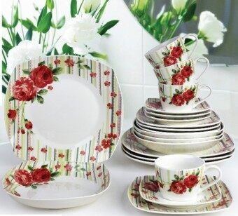 Harga Giacomo Sinforni 20pcs translucent porcelain dinner set