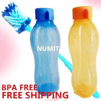 Harga Tupperware Eco Bottle 2X750ml Blue Orange (BPA FREE) + Eco Brush x1 (FREE SHIPPING)