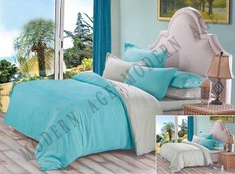 Harga Modern Age 2T Turquoise Grey Design Fitted Bedsheet With Quilt Cover