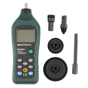 Harga MASTECH MS6208A Contact Digital Tachometer RPM Meter Rotation Speed 50-19999RPM