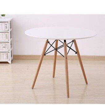 Harga Home & Living: Creative Eames Simple Round Cafe Table - White