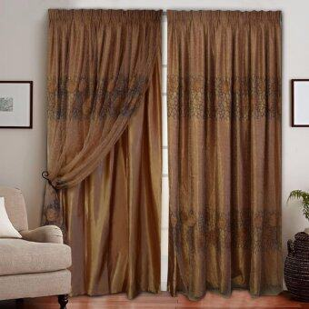 Harga Essina French Pleated Curtain 2Layer 4.5 Sliding Door - Antonio Gold