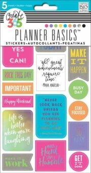 Harga Planner Basics Stickers- Neon Rock This Day