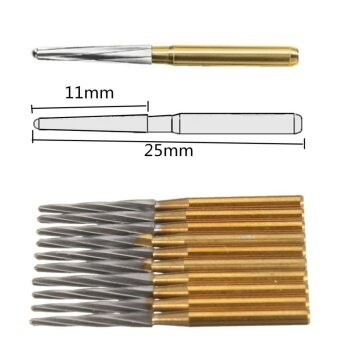 Harga 10PCS Dentsply Maillefer Endo-Z Burs FG 25mm tapered burs for pulp chamber