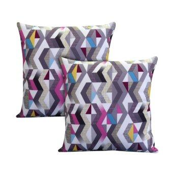 Harga Essina Sarga Pink 43x43 Cushion Cover + Infill 2pcs/set