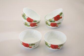 Harga Giacomo 11cm Decorated Opal Salad Bowl (Matissa) - 6pc