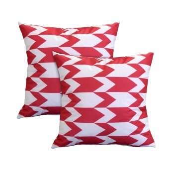 Harga Essina Arrow Red 43x43 Cushion Cover + Infill_2pcs/set