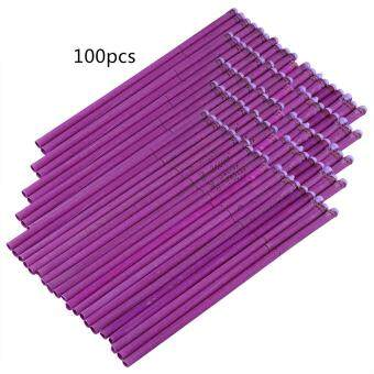 Harga Sweet Natural Ear Candle DIY Fragrant Candling Therapy Healthy Ear Care (100pcs Lavender Fragrance-Purple)