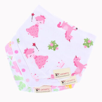 Harga 1set/3pcs Bib Bandana Cotton Bandana Kids Animal Baby Infant Saliva Towel9
