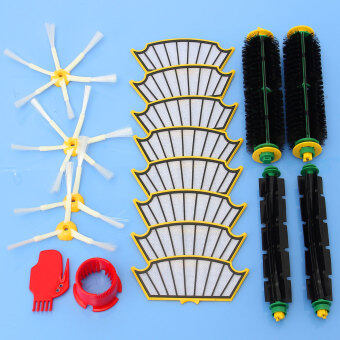 Harga 18pcs One Set NEW Side brush + filter kit for irobot Roomba 500 527 528 530 532 535 54 0 555 560 562 570 572 580 581 590 replacement