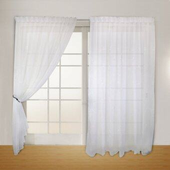 Harga Essina French Pleated Sheer Curtain 1 Layer - AZELIA WHITE