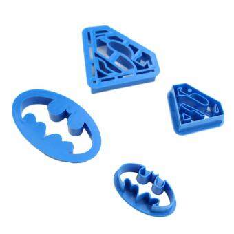 Harga Hequ DIU 4 pcs Home Kitchen Baking Pastry Tools Cookie Super Hero Batman Superman Cookie Cutters Sugarcraft Blue