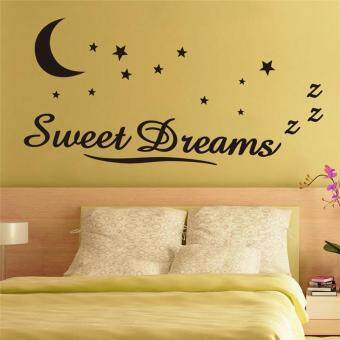 Harga sweet dreams moon and stars kids room decor bedroom mural art vinyl wall stickers
