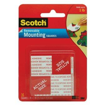 Harga Scotch Mounting Square 108, 1 in x 1 in (25.4 mm x 25.4 mm), 16 Squares
