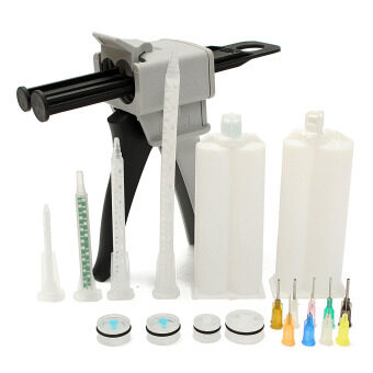 Harga 50ML 1:1 2:1 Epoxy Resin Gun Dispenser Static Mixer Mixing Nozzle Gun Applicator