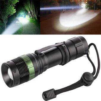 Harga Bright Zoomable CREE LED Flashlight Adjustable Portable Torch Light(White)