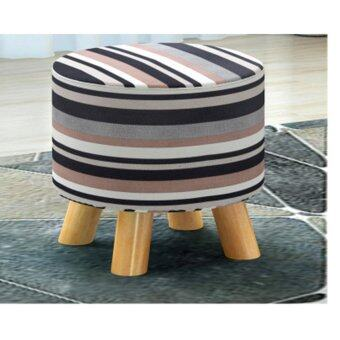 Harga Modern Wooden Stool Ottomans (Dark Brown)
