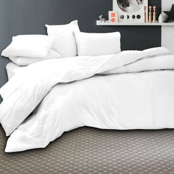 Harga Essina 100% Cotton 620TC Fitted Bed sheet set + Quilt Cover - Candies White