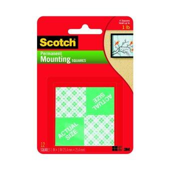 Harga Scotch Mounting Squares - Permanent 111, 1 in x 1 in (25.4 mm x 25.4 mm), 16 Squares